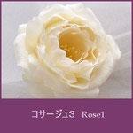 バラコサージュ1(ローズコサージュ、薔薇コサージュ)