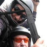 Flyin tandem with my popa!