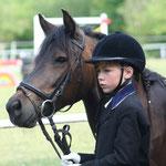 Glückliche Pferdemädchen