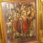 peinture religieuse encre et huile de Crespin  ref 5385