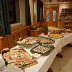 Vorspeisenbuffet im Festsaal