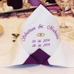 Servietten für Hochzeit2