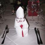 Servietten für Hochzeit1