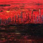 Red City Lights 140 x 120