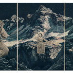 © Natalie Huth, triptychon agony valley, analog collage, 2017