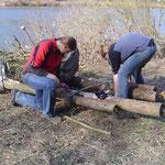 Flossbau auf Survival Art bei www.kanu-neckar.de