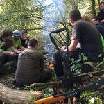 Lager Verpflegung im SOG Abenteuer und Survival Day www.kanu-neckar.de