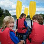 Kindergeburtstag auf dem Neckar mit SOG www.kanu-neckar.de