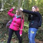 Waffen zum überleben selbst gemacht, Survival Holzwaffen Pfeil und Bogen www.kanu-neckar.de