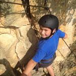 Klettern im Steinbruch