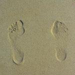 Deine Spuren im Sand