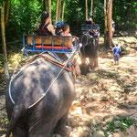 Gehört einfach dazu - kurzer Ausritt mit den Elefanten