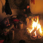 Lagerfeuer-Session im Tipi