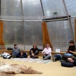 Handpan-Meditation beim Mithilfewochenende Seminarzentrum Beuerhof