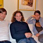 Eine sympathische Truppe – Johnny Rieger Band (v.l.n.r.): Matthias Scherer, Johnny Rieger, Michael Jochum; Foto: Nilles