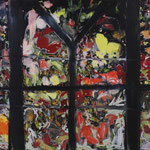「夜の温室」2008年 112cmx145.5cm  oil on canvas