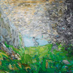 「影の織物」2012年 89.4cmx130.3cm  oil on canvas