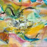 明るい日 15.8cmx22.7cm oil on canvas
