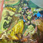 渡り蟹 53cmx45.5cm oil on canvas
