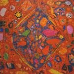 「赤い絨毯」2012年 60.6cmx72.7cm  oil on canvas