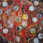 「Untitled」2015年130cmx162cm oil on canvas