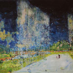 「あらわれてまた消える」2009年 72.7cmx91cm  oil on canvas