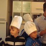 Alle durften einmal Koch spielen.