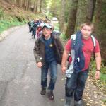 Der Aufstieg war mühsam, wenigstens wurde uns das Gepäck mit dem Bus hinauf gefahren.