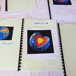 Schüler verfassen ihr eigenes Buch der Erde (Kontinente mit geografische Besonderheiten, Tieren...
