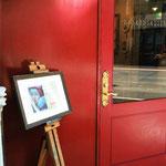 お洒落なドラードギャラリー様玄関口です。友人Hちゃん撮影♪(photo 2015.2.14) Hちゃん、ありがとう♪