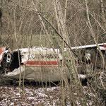 Site de crash d'un avion