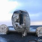 Epave d'avion DC3 Islande