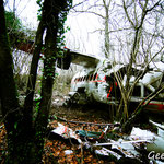 Site de crash d'un avion
