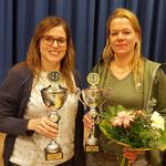Sieger Damen v.l.n.r.: Karola Knese (2.); Mareike Brüggemann (1.)