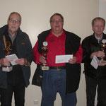 Sieger Senioren v.l.n.r.: 2. Peter Schulte | 1. Bernhard Beerhorst | 3. Günther Bekaan