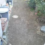 雑草対策 防草シート 除草・整地後 施工場所:奈良県北葛城郡広陵町