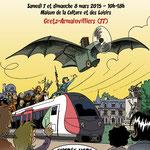 Affiche du festival BD de Gretz-Armainvilliers 2015 (invité d'honneur)