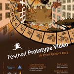 Affiche pour le Festival Prototype Vidéo 2014