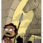 Projet d'illustration pour un livre scolaire sur l'Iliade et l'Odyssée (éd. PlayBac)