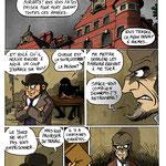 Planche de recherche préparatoire pour Sherlock Holmes & Moriarty, associés (scénario : Ced) - éd. Makaka