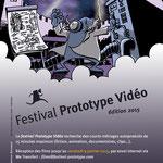 Flyer pour le Festival Prototype Vidéo 2015