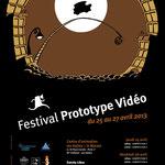 Affiche pour le Festival Prototype Vidéo 2013
