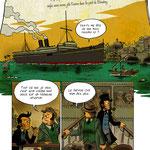 Extrait de Sherlock Holmes - Enquêtes internationales (scénario : Ced) - éd. Makaka
