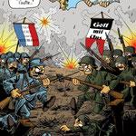 Illustration pour la couverture du tome 3 de Culture Zine sur la Première Guerre Mondiale