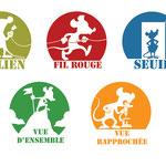 Logos pour une brochure d'activités, pour le Centre Paris Lecture