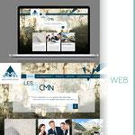Réflexion sur le design du site suite à la nouvelle identité visuelle pour la société CARRIERES DE LA MONTAGNE NOIRE