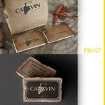 Réalisation de cartes de visite pour l'enseigne CAVAVIN