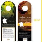 Réalisation d'étiquettes de présentation pour bouteilles de vin pour l'enseigne CAVAVIN