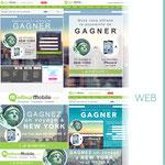 Exercice d'e-mail, de page web et de bannières pour un jeu concours