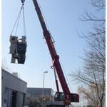 Abbau und Transport von Kühlsystemen - Turbinen